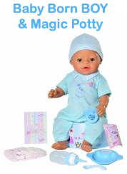 Baby Born BOY & Magic Potty - Product Features