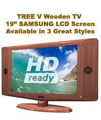 Tree V TV 19 Inch Wooden Frame TV